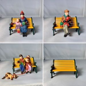 Dept 56 Christmas in the Park on a Bench